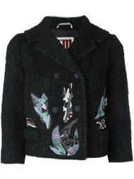 укороченный пиджак с контрастными заплатками  I'M Isola Marras