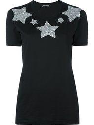 футболка с аппликацией звезд из пайеток Dolce & Gabbana