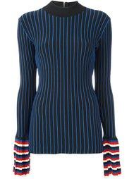 толстовка в рубчик с контрастными рукавами Emilio Pucci