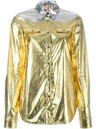 рубашка с эффектом металлик Nº21