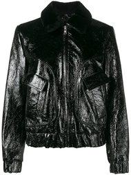 куртка-бомбер с вышивкой роз Ganni