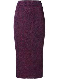 трикотажная юбка с блестящей отделкой G.V.G.V.