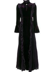 длинное платье с оборками Fendi