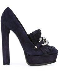 декорированные туфли на высоком каблуке  Casadei