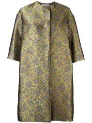 объемное пальто с цветочным узором Lanvin