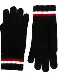 перчатки с контрастными полосками Moncler
