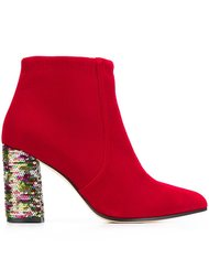 ботинки с пайетками на каблуке Bams