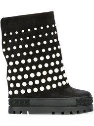 ботинки с заклепками  Casadei