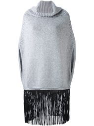 cape fringed knitted top Agnona