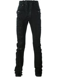 distressed skinny trousers Unravel