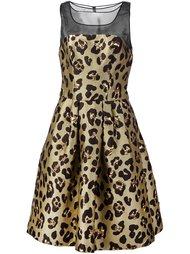 платье с леопардовым принтом  Carolina Herrera