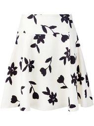 юбка с цветочным принтом  Carolina Herrera