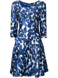 scoop neck printed dress Carolina Herrera