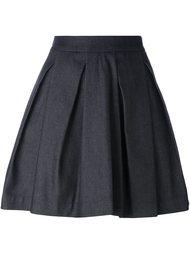 плиссированная юбка А-образного силуэта McQ Alexander McQueen