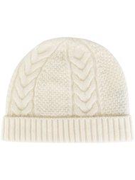 шапка с узором 'косичка' N.Peal