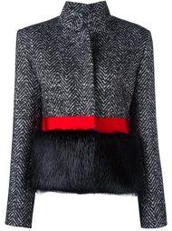 куртка с оторочкой из меха Capucci