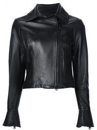 leather motorcycle jacket  Carolina Herrera