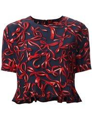 блузка с принтом бантов Piamita