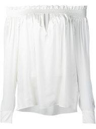 блузка с рюшами Alexandre Vauthier