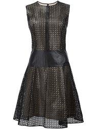 платье с перфорированным дизайном  Carolina Herrera