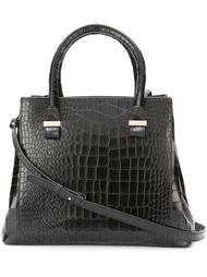 сумка-тоут мини с эффектом крокодиловой кожи  Victoria Beckham