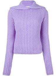 пуловер в рубчик Carven