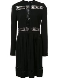 embroidered panel dress  Nicole Miller