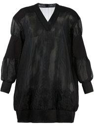 полупрозрачное платье-толстовка Sacai