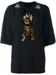 топ с аппликацией  Dolce & Gabbana