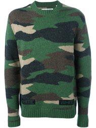 свитер с камуфляжным принтом  Off-White