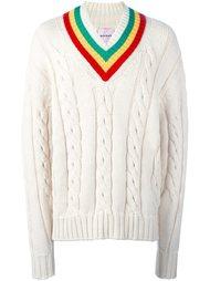 свитер с контрастным воротником   Palm Angels