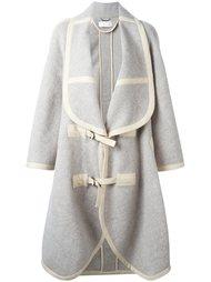 массивное пальто-плед Chloé