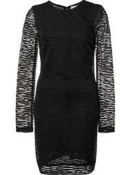 sheer sleeve stretch dress  Nicole Miller