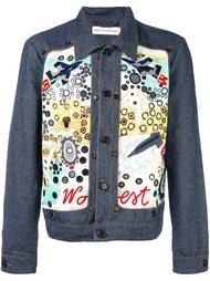 джинсовая куртка с вышивкой Walter Van Beirendonck
