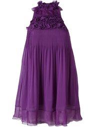 плиссированное платье с рюшами Giamba