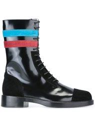 ботинки с контрастными полосками Raf Simons