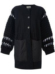 пальто с вязаными рукавами Hache