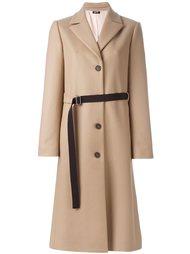 пальто с поясом Jil Sander Navy