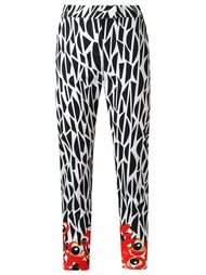 printed straight trousers Isolda