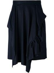 асимметричная юбка с драпировкой Maison Rabih Kayrouz