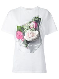 футболка с принтом роз  Christopher Kane