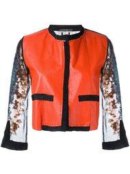cropped sequin sleeve jacket  Aviù