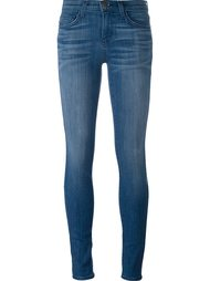 выбеленные джинсы кроя скинни   Current/Elliott