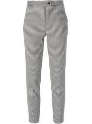 брюки в ломаную клетку Boutique Moschino