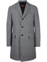пальто с узором в ломаную клетку Tod's