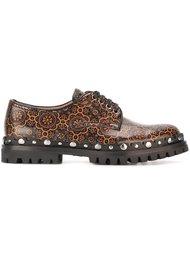 туфли на шнуровке с принтом орнамента Car Shoe
