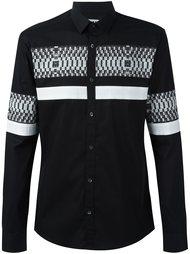 рубашка с принтом в полоску Les Hommes Urban
