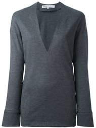 deep V-neck pullover 08Sircus