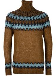 свитер с зигзагообразным узором  Laneus