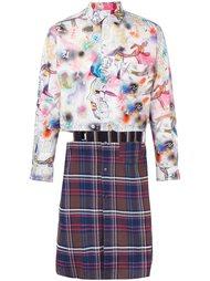 удлиненная рубашка в стиле пэчворк Comme Des Garçons Shirt